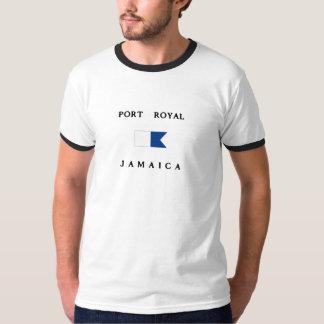 Bandera alfa real de la zambullida de Jamaica del Camisas