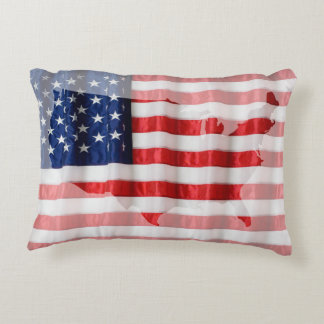 Bandera Almohada-Americana Cojín Decorativo
