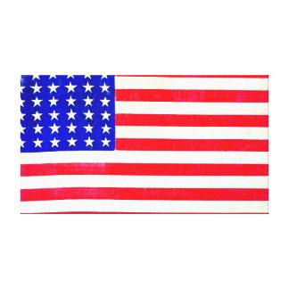 Bandera americana 1865 de la guerra civil impresiones de lienzo