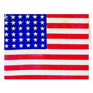 Bandera americana 1865 de la guerra civil tarjeta de felicitación grande