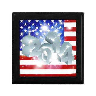 Bandera americana 2014 caja de regalo