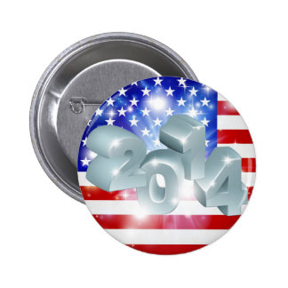 Bandera americana 2014 chapa redonda de 5 cm
