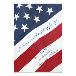 Bandera americana 4ta de la invitación de julio
