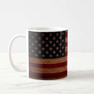 ¡Bandera americana - añada su nombre o iniciales Taza