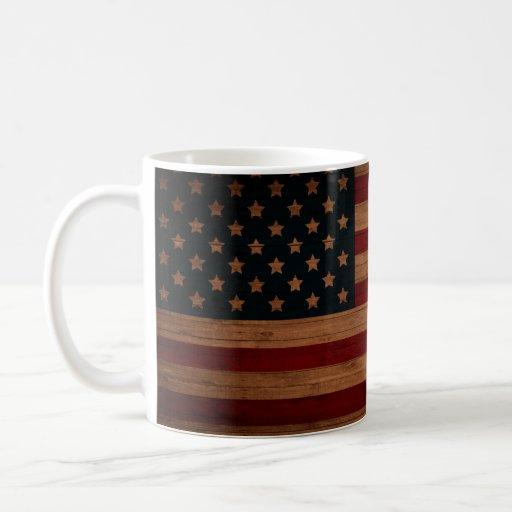¡Bandera americana - añada su nombre o iniciales! Taza