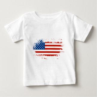 Bandera americana apenada camiseta de bebé