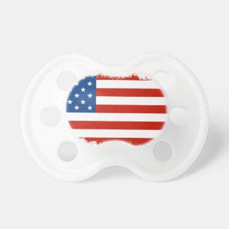 Bandera americana apenada chupete