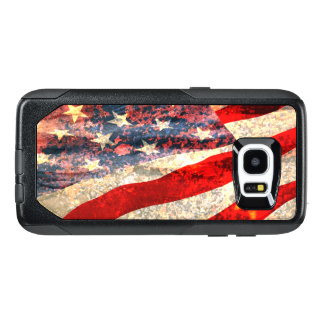 Bandera americana apenada funda OtterBox para samsung galaxy s7 edge