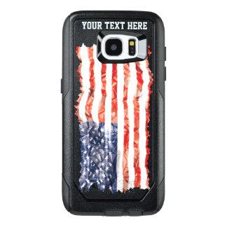 Bandera americana arrugada vieja modificada para funda OtterBox para samsung galaxy s7 edge