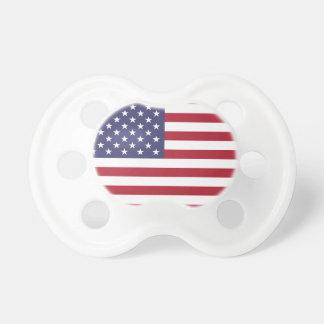 Bandera americana blanca y azul roja chupete