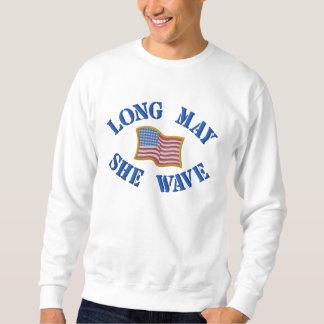 Bandera americana bordada en la camiseta