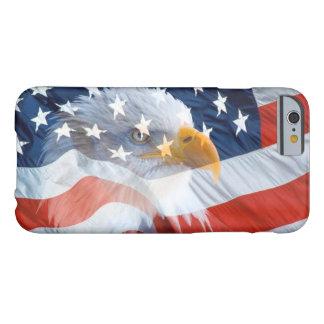 Bandera americana calva patriótica de Eagle Funda Barely There iPhone 6
