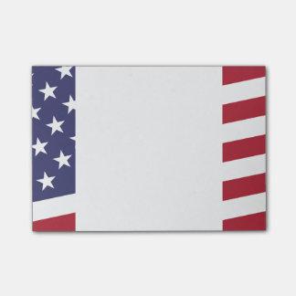 Bandera americana - celebre los E.E.U.U. - 4 de Notas Post-it®