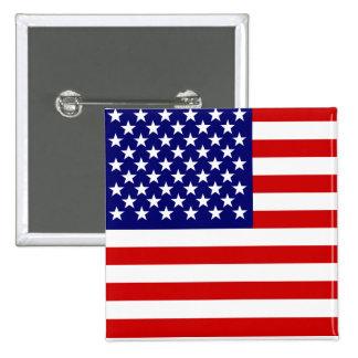 Bandera americana chapa cuadrada