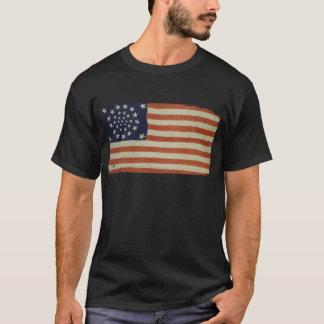 Bandera americana con 34 estrellas camiseta