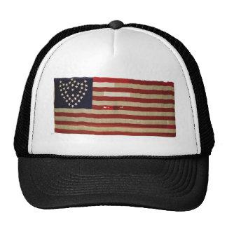 Bandera americana con 36 estrellas gorras