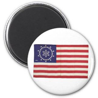 Bandera americana con 48 estrellas Whipple Imán De Frigorifico