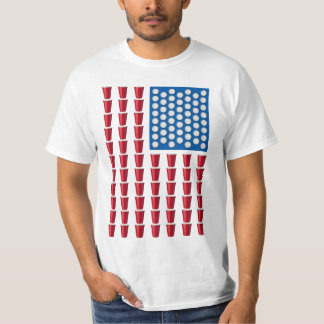 Bandera americana de consumición del juego de Pong Camiseta