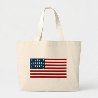 Bandera americana de la guerra civil de Sumter del Bolsa Tela Grande