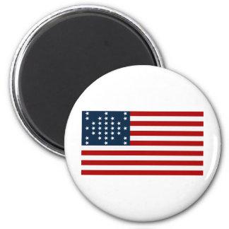 Bandera americana de la guerra civil de Sumter del Imán Redondo 5 Cm