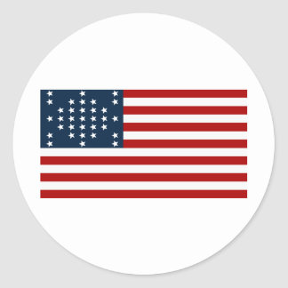 Bandera americana de la guerra civil de Sumter del Pegatina Redonda