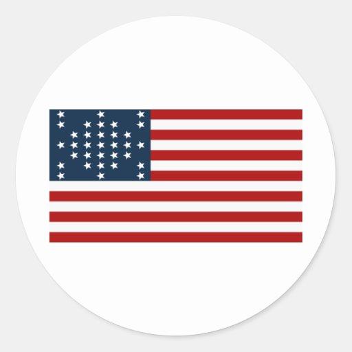 Bandera americana de la guerra civil de Sumter del Pegatina