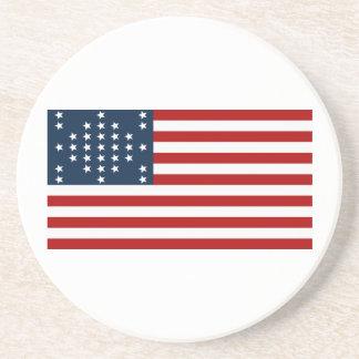Bandera americana de la guerra civil de Sumter del Posavasos Diseño