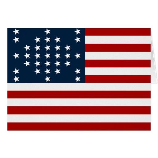 Bandera americana de la guerra civil de Sumter del Felicitacion
