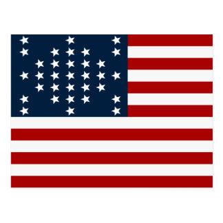 Bandera americana de la guerra civil de Sumter del Postal