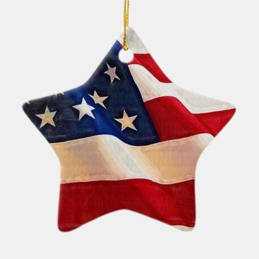 Bandera americana de la vieja gloria de las barras adornos de navidad