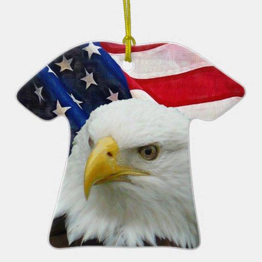 Bandera americana de la vieja gloria de las barras ornamento para reyes magos