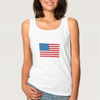 Bandera americana de las barras y estrellas camiseta con tirantes