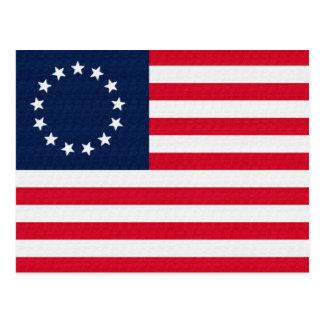 Bandera americana de las estrellas de Betsy Ross Postal
