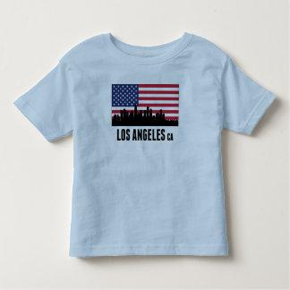 Bandera americana de Los Ángeles CA Camisas