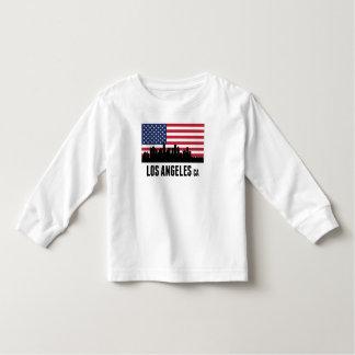 Bandera americana de Los Ángeles CA Camisetas