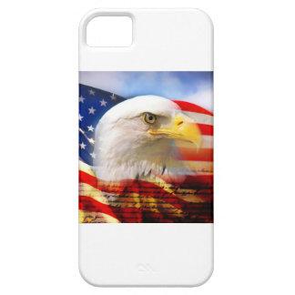 BANDERA AMERICANA DE LOS E.E.U.U. iPhone 5 PROTECTORES