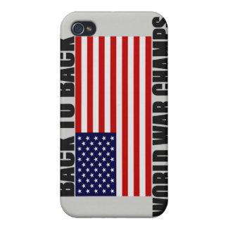 Bandera americana de nuevo a campeones traseros de iPhone 4/4S carcasas