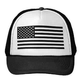 Bandera americana del apagón gorras de camionero