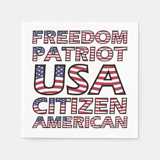 Bandera americana del ciudadano de los E.E.U.U. Servilleta De Papel