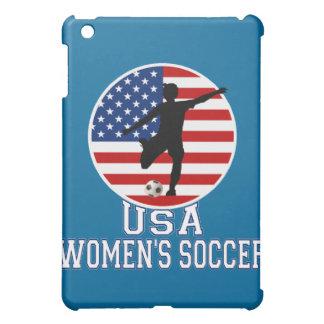 Bandera americana del fútbol de las mujeres de los