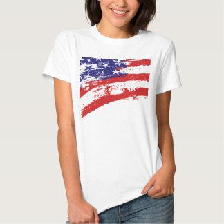 Bandera americana del Grunge Camiseta