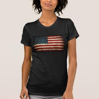 Bandera americana del Grunge para mujer Camisetas