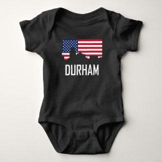 Bandera americana del horizonte de Durham Carolina Body Para Bebé