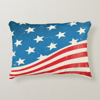 Bandera americana del vintage cojín decorativo