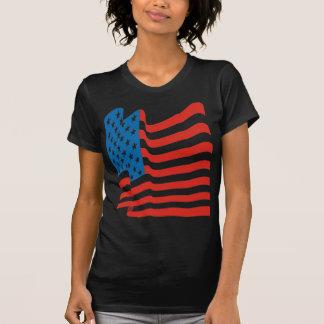 Bandera americana del vintage del tigre 80s de camisetas