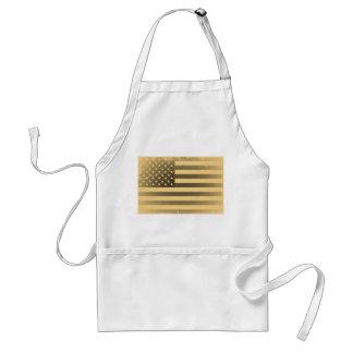 Bandera americana del vintage delantales