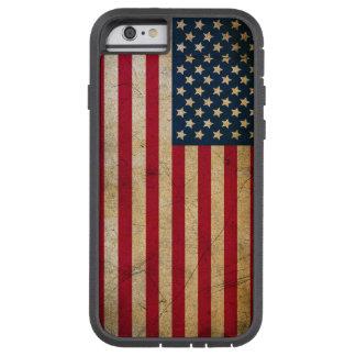 Bandera americana del vintage funda tough xtreme iPhone 6