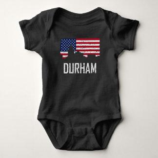 Bandera americana Distre del horizonte de Durham Body Para Bebé