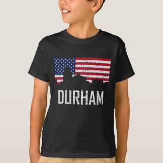 Bandera americana Distre del horizonte de Durham Camiseta