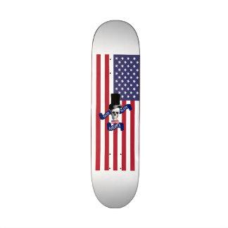 Bandera americana divertida monopatín 19,6 cm